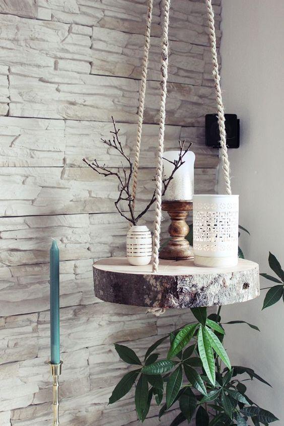 log slice hanging table