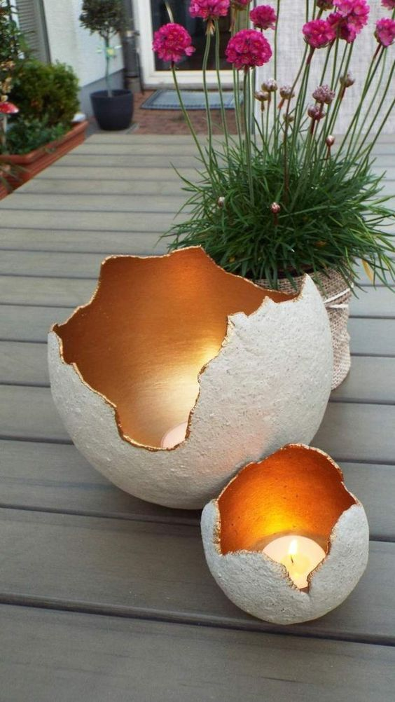 outdoor candle holders