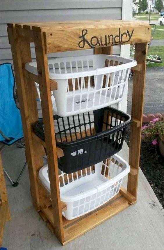laundry basket rack