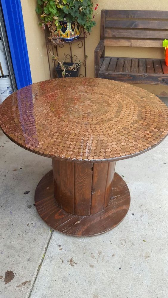 penny coin tabletop