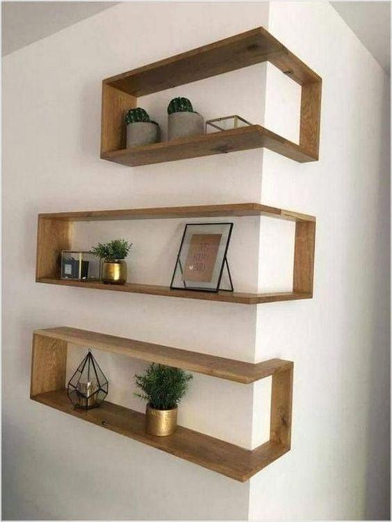 corner floating box shelves