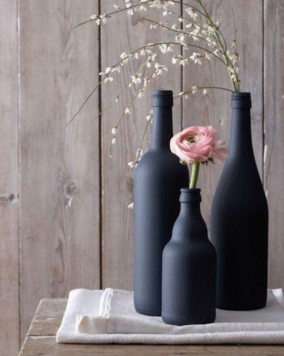 chalk painted bottles