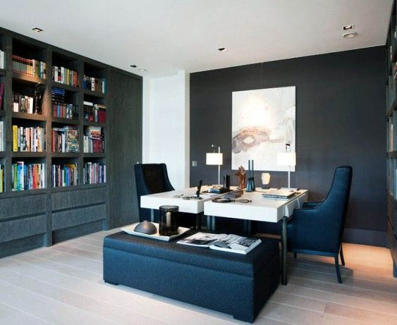 45 Home Office For Ideas And, Double Desk Home Office Diy