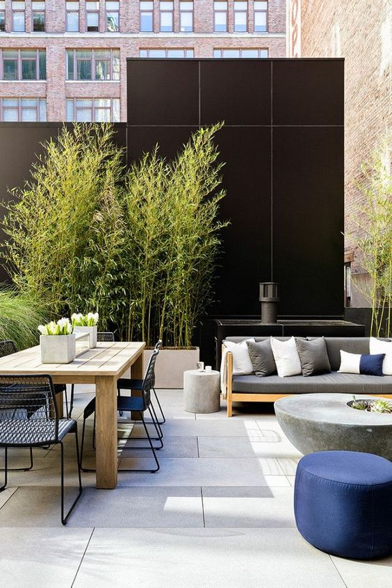 modern rooftop outdoor hub