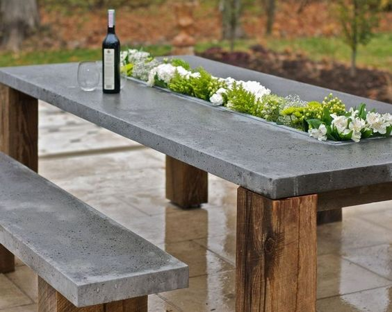 concrete topped table