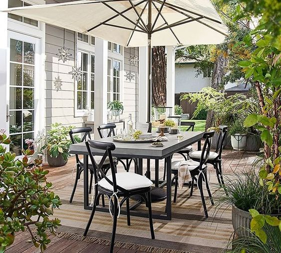 elegant garden dining table