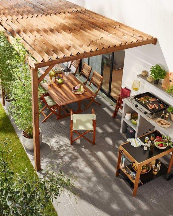 backyard bbq kitchen