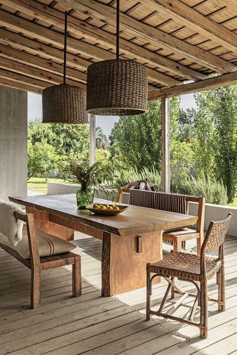 rustic verandah dining table