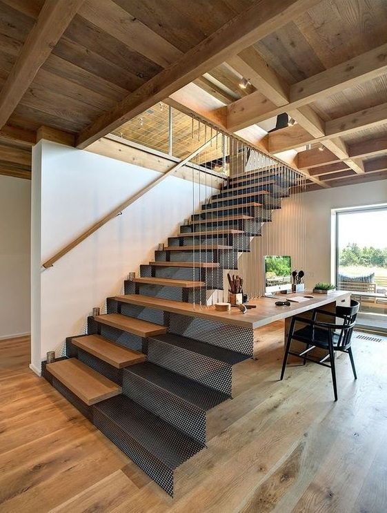 modern industrial stairs