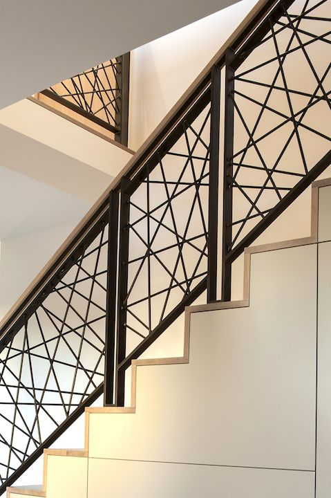 modern black metal railings