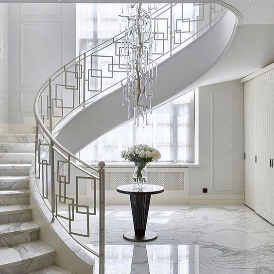 elegant marbled foyer