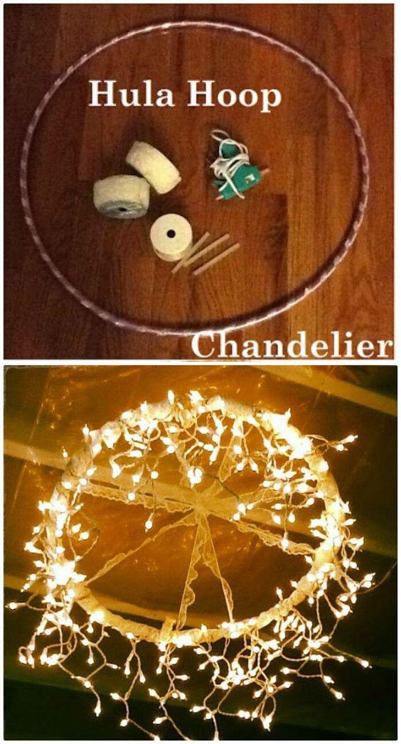hula-hoop chandelier