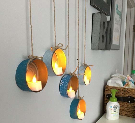tin candle holders