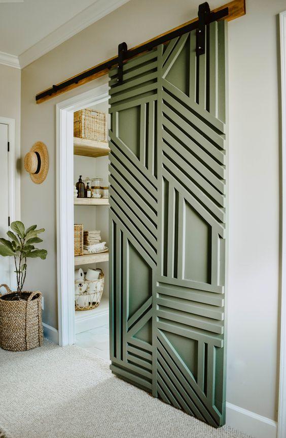 geometric barn door