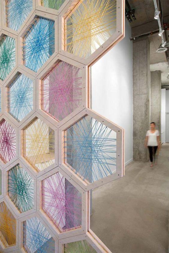 hexagon wall divider