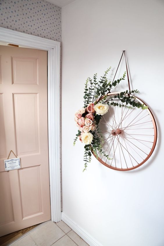 bicycle wheel wall feature