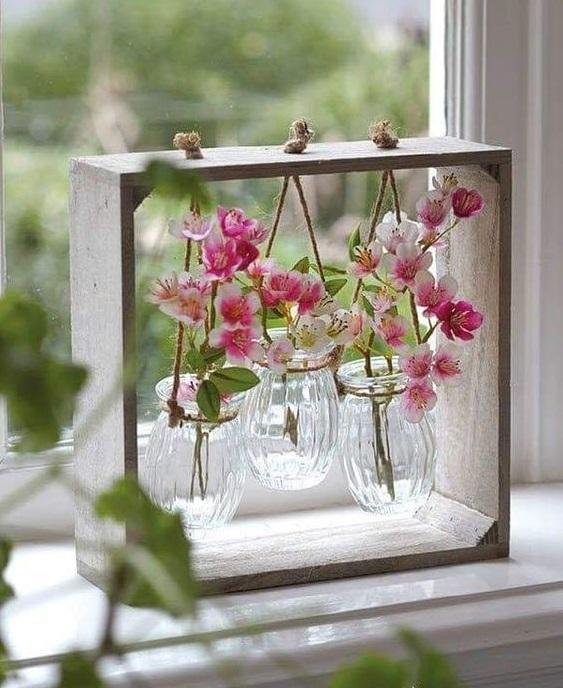 window flower vase
