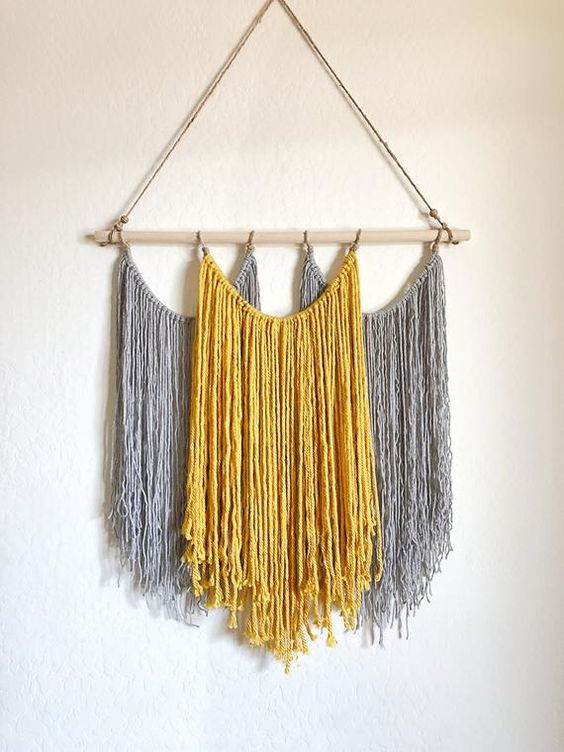 macrame wall feature