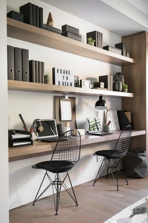 Home Office Desk Ideas And Designs, Double Desk Home Office Diy