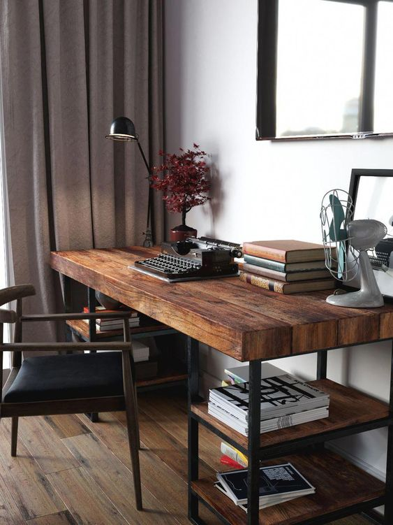 Home Office Desk Ideas And Designs, Wooden Desks For Home Office