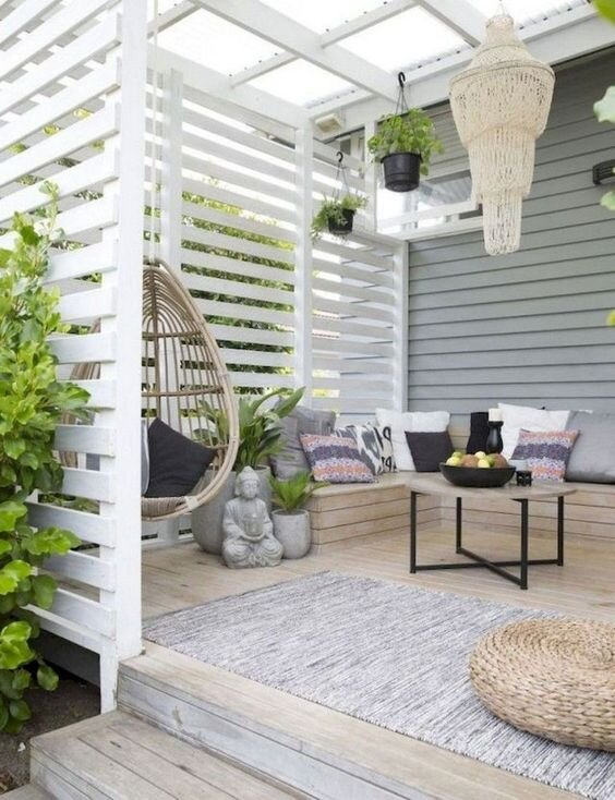 cosy cottage deck
