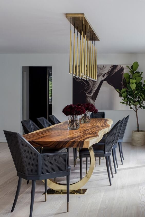 luxurious rustic dining room