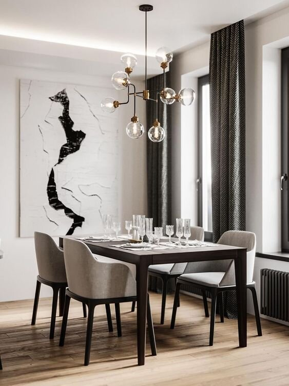 luxurious chic dining room