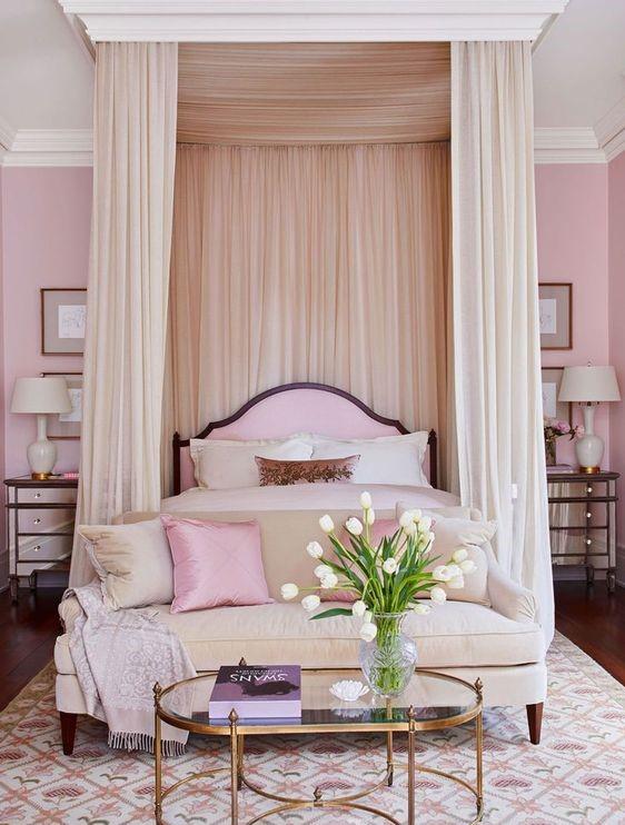 elegant pink bedroom