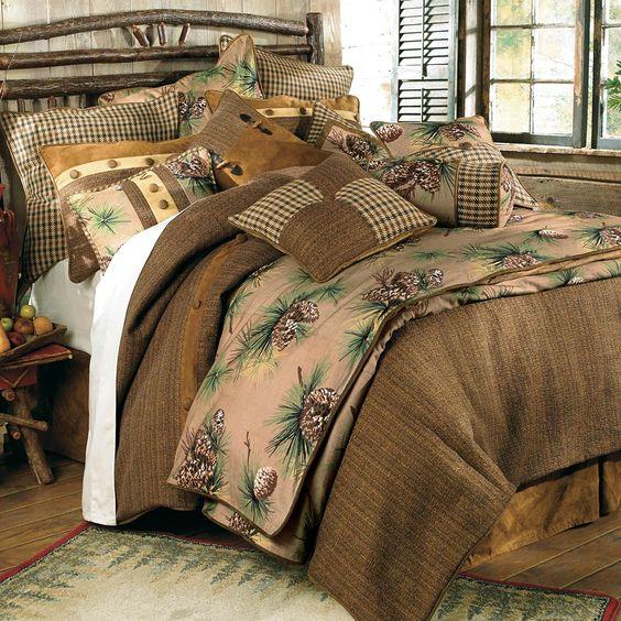 rustic brown bedroom