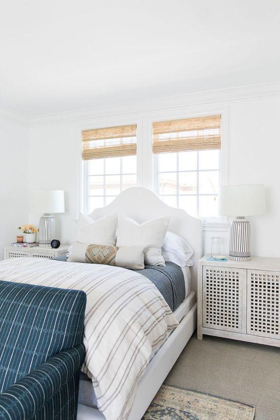 modern white farmhouse bedroom