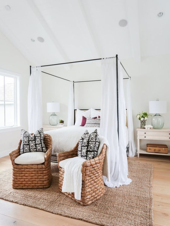 elegant farmhouse bedroom
