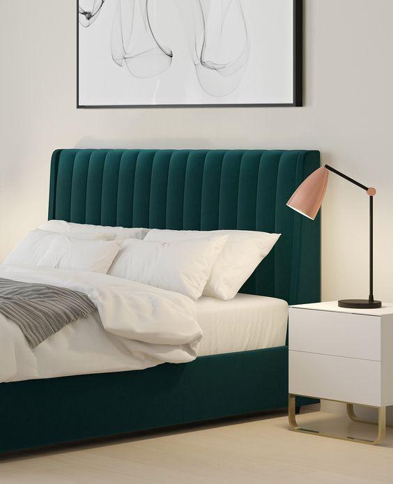 modern green bed