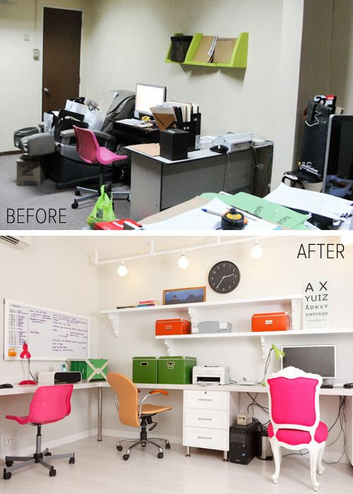 home office makeover before after