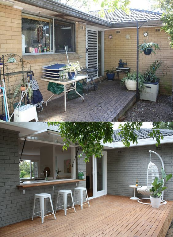 patio makeover before after