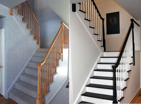 stairs makeover before after