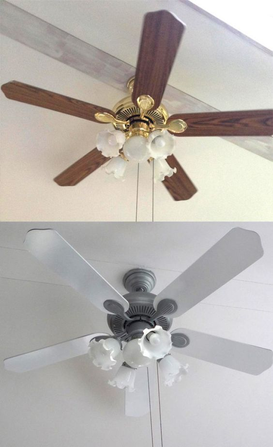 ceiling fan makeover before after
