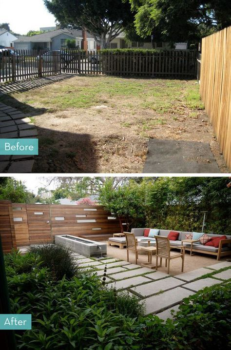 yard makeover before after