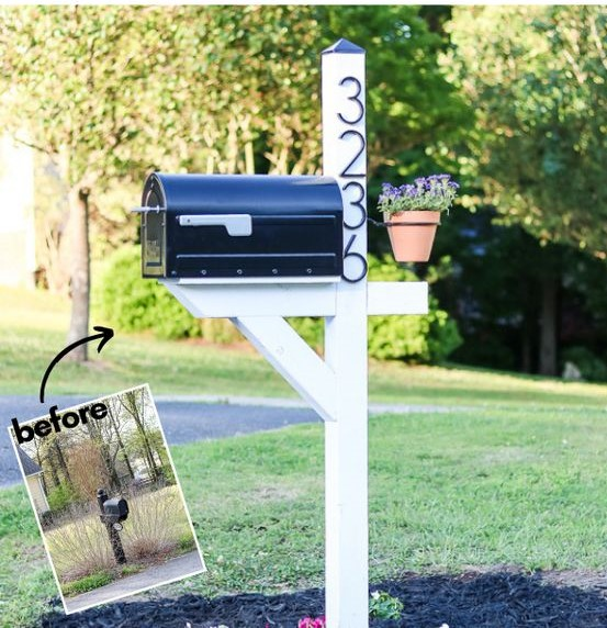 mailbox makeover before after