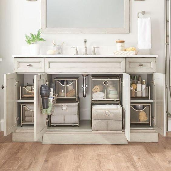 50 Nifty Bathroom Storage Ideas And, Bathroom Cabinet Ideas