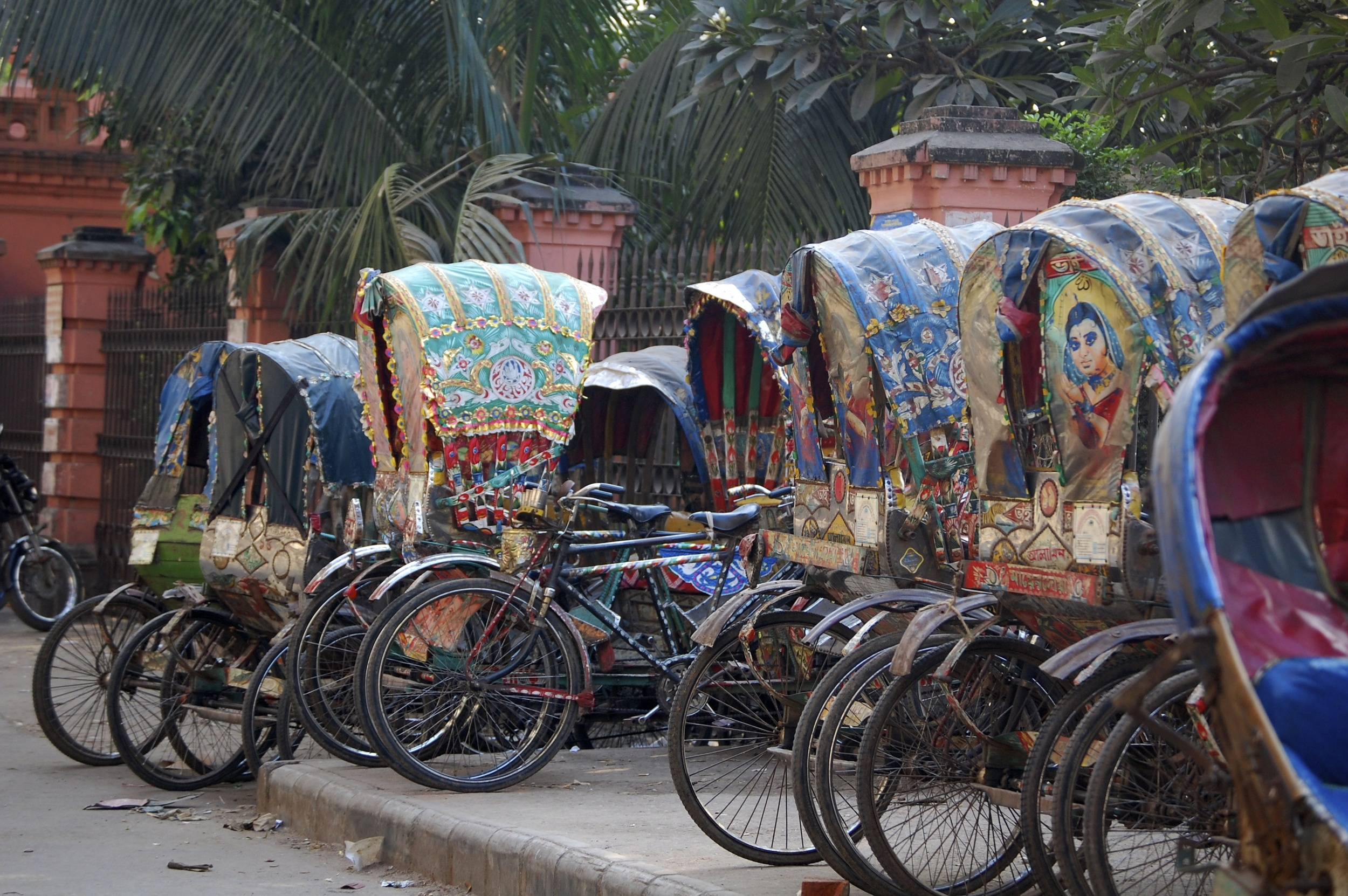 Rickshaws in Dhaka