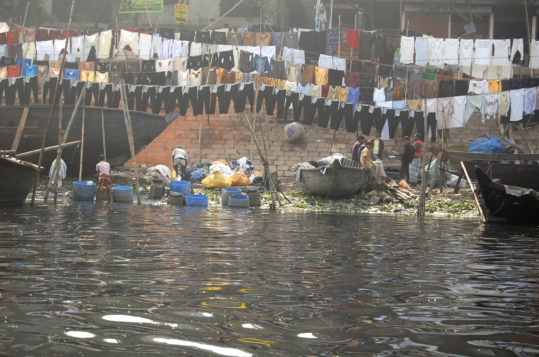 Designer Jeans drying in Dhaka