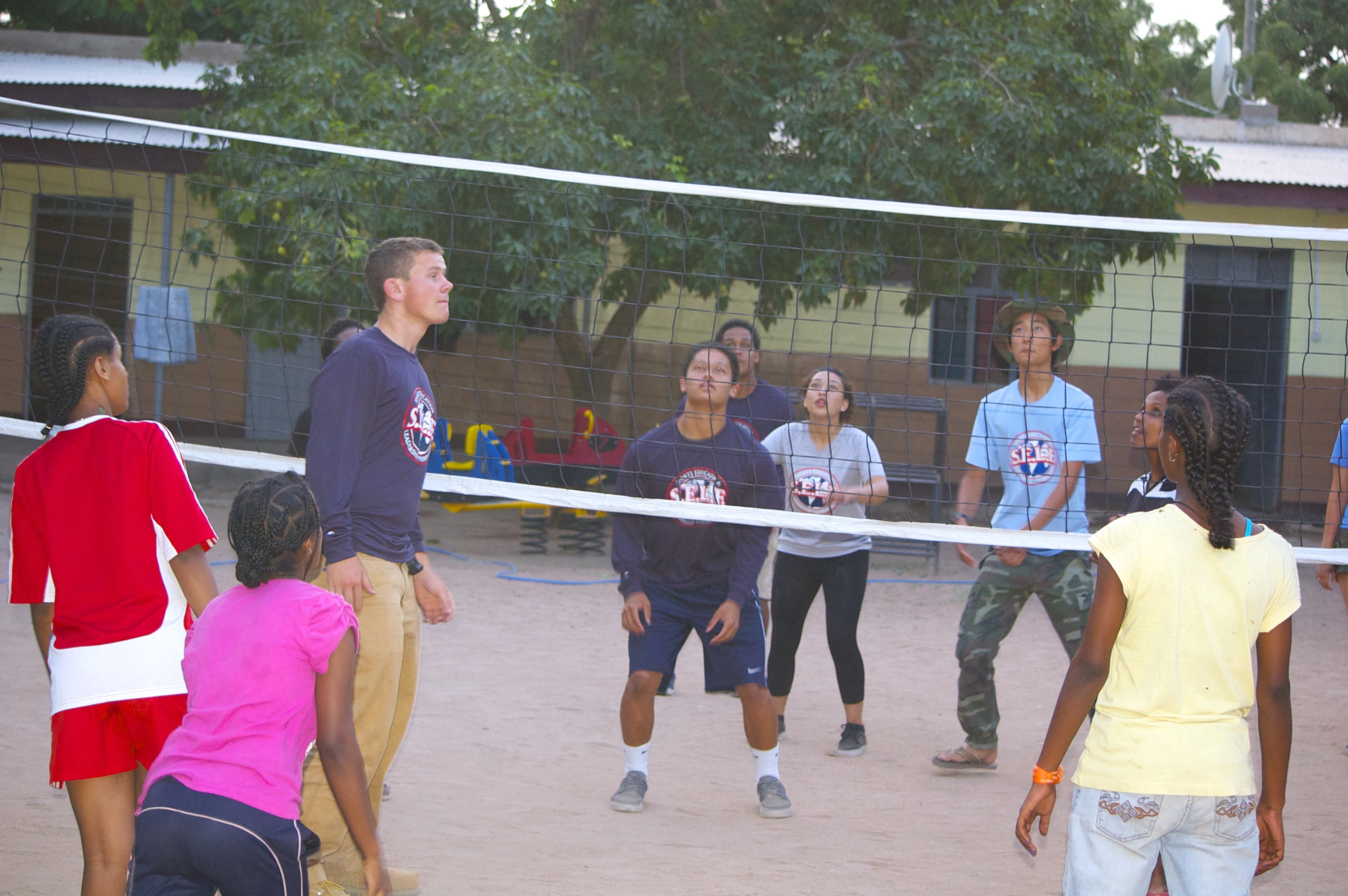 Volleyball at the girl's orphanage
