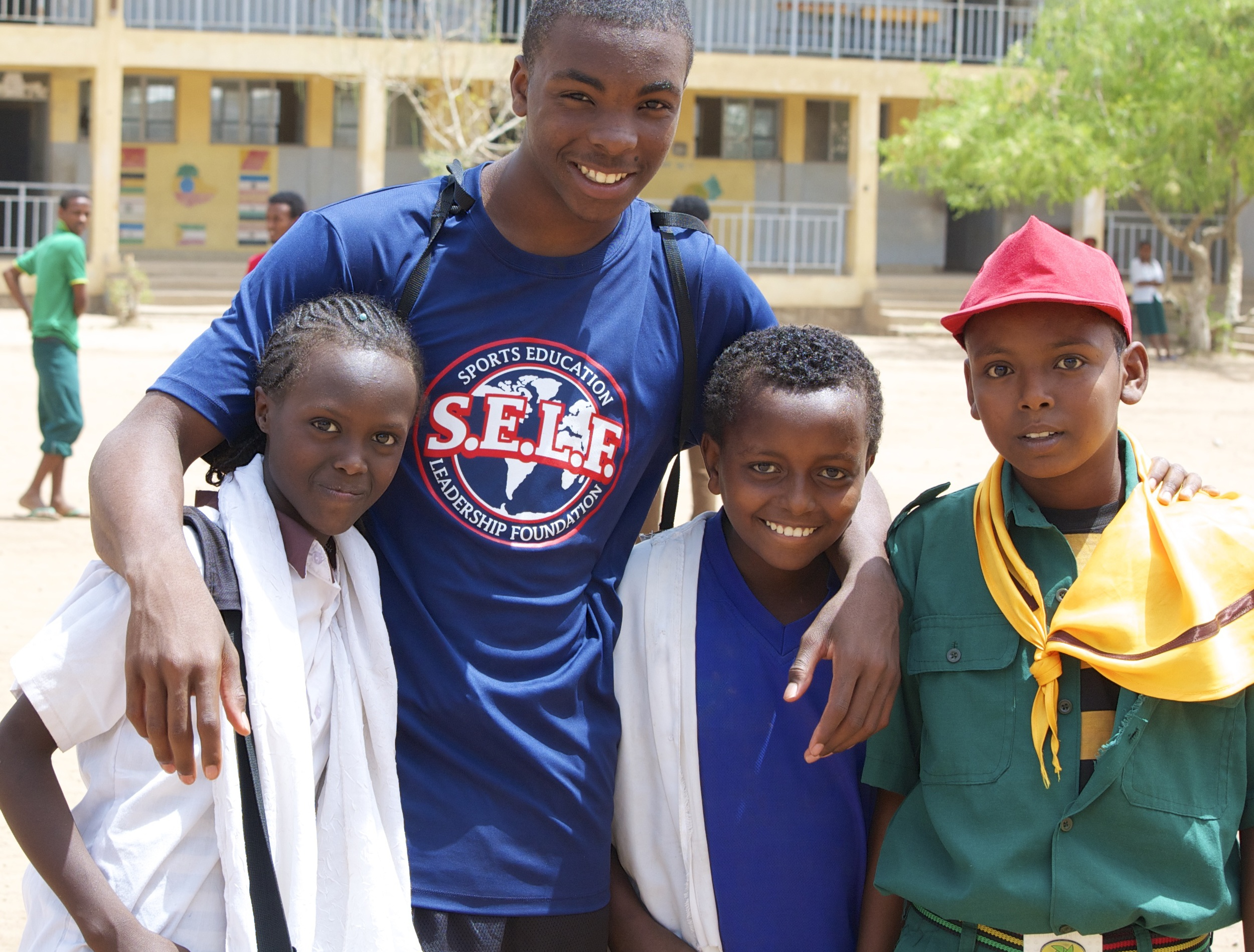 Faizon and school kids