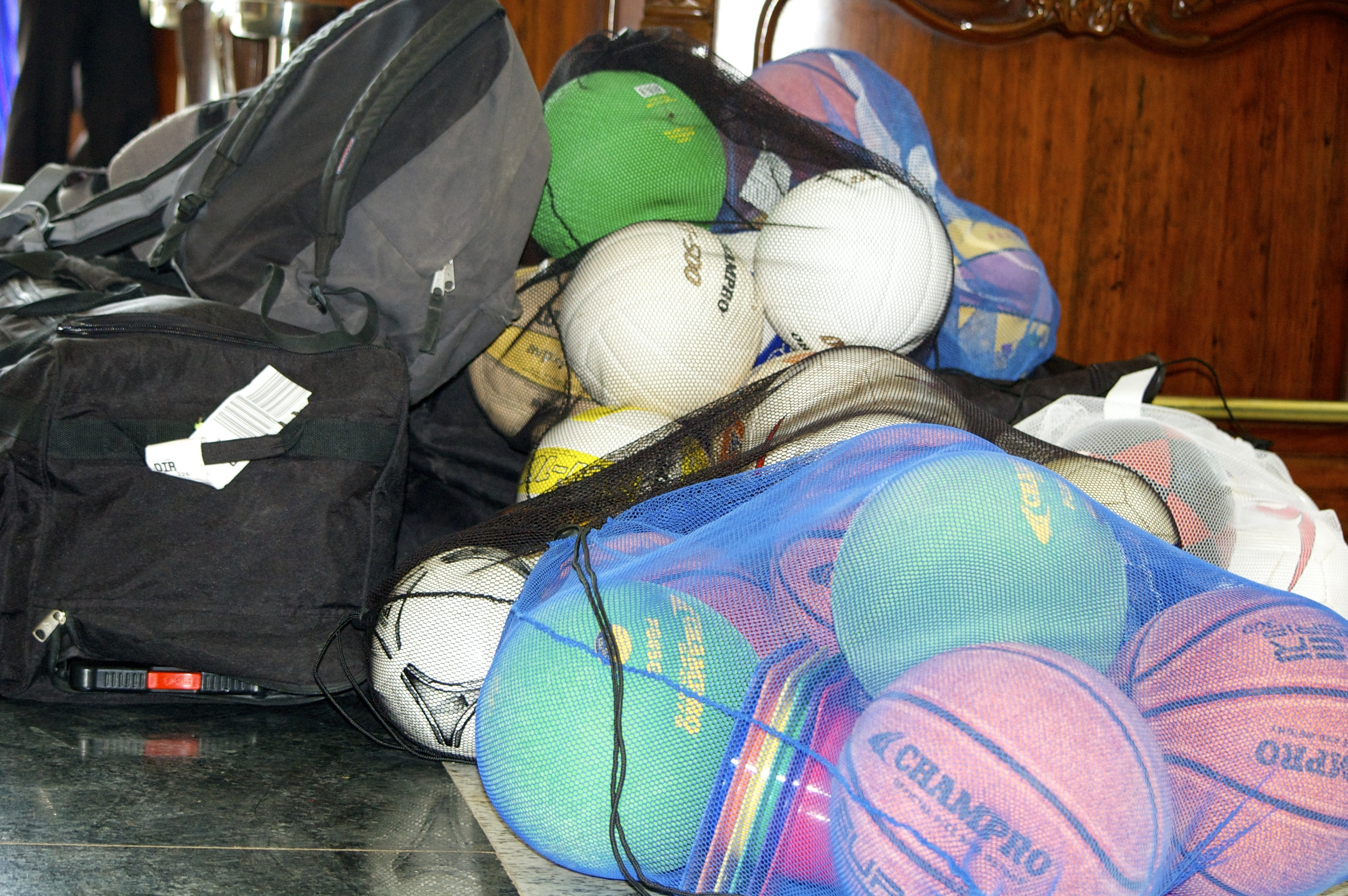 Bag of cones, balls for the school