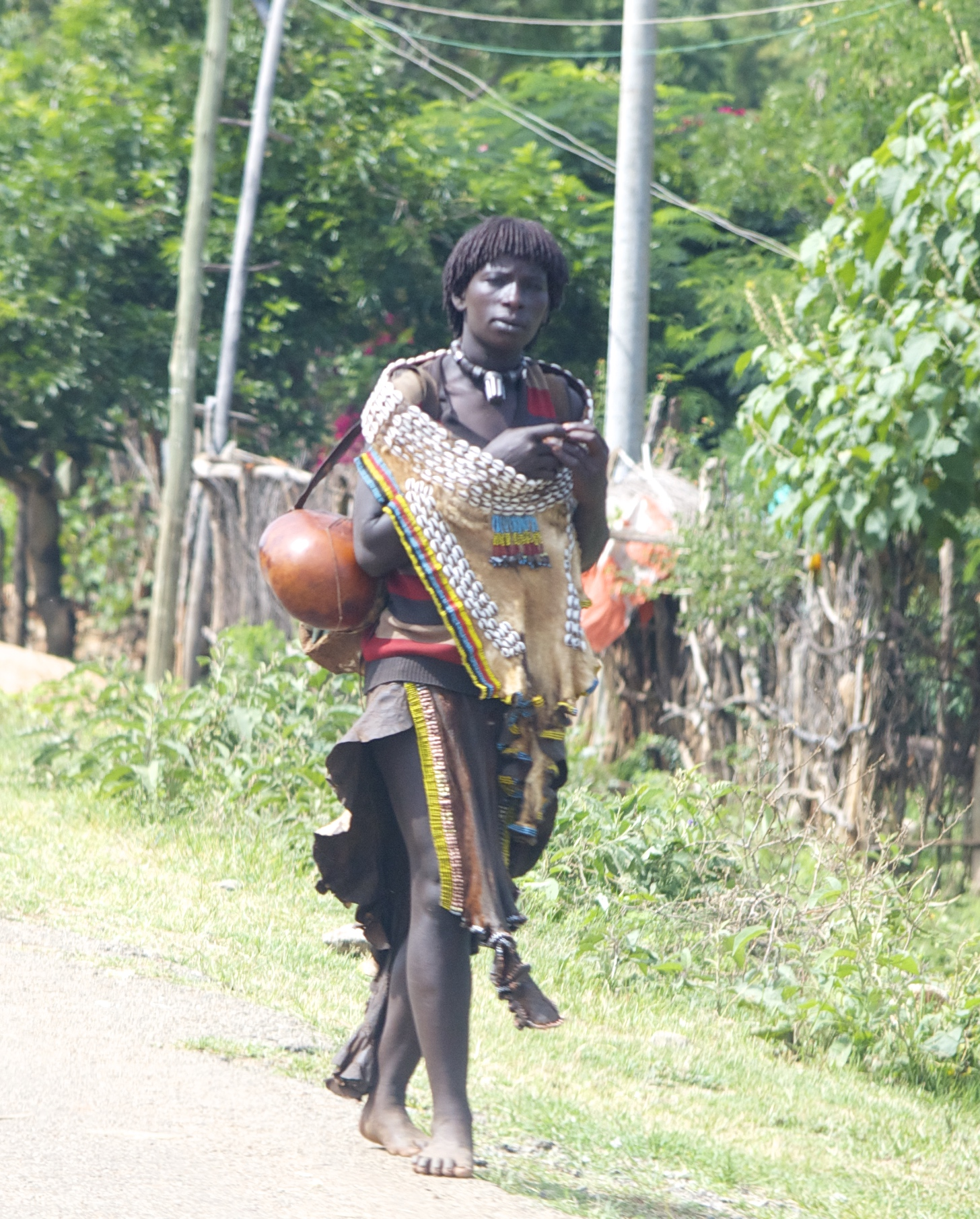 A woman in the Omo Valley