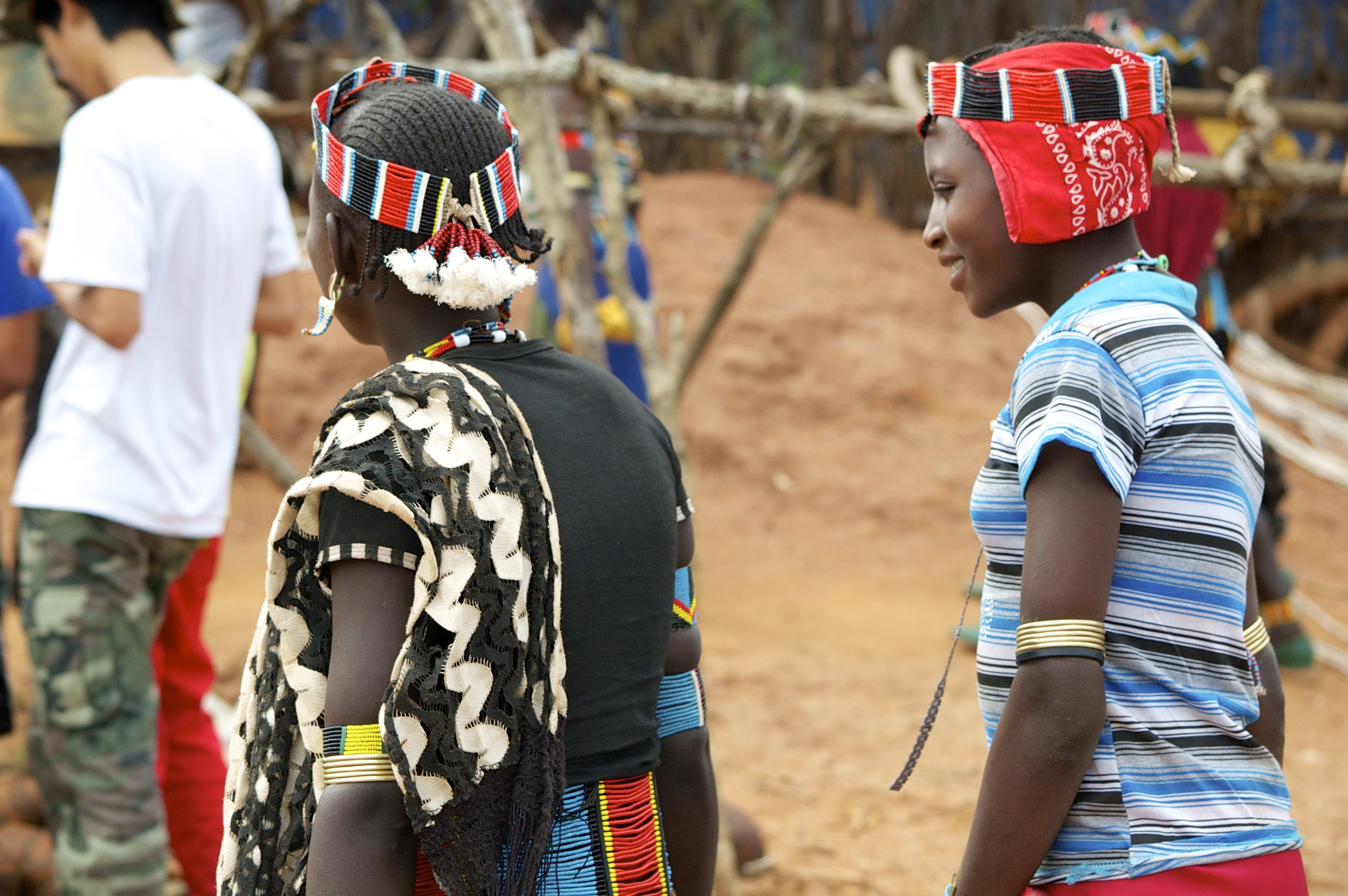 Men at the market place in the Omo Valley