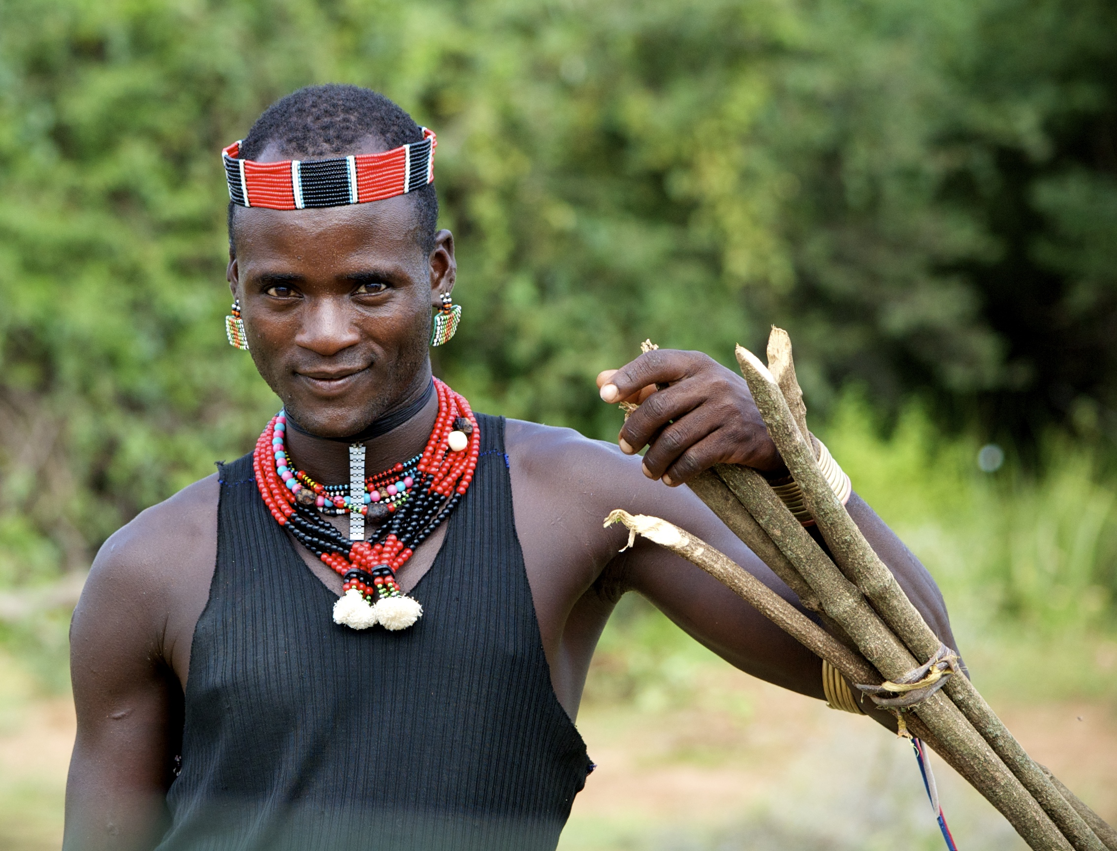 A man helps us on our journey through the Omo Valley