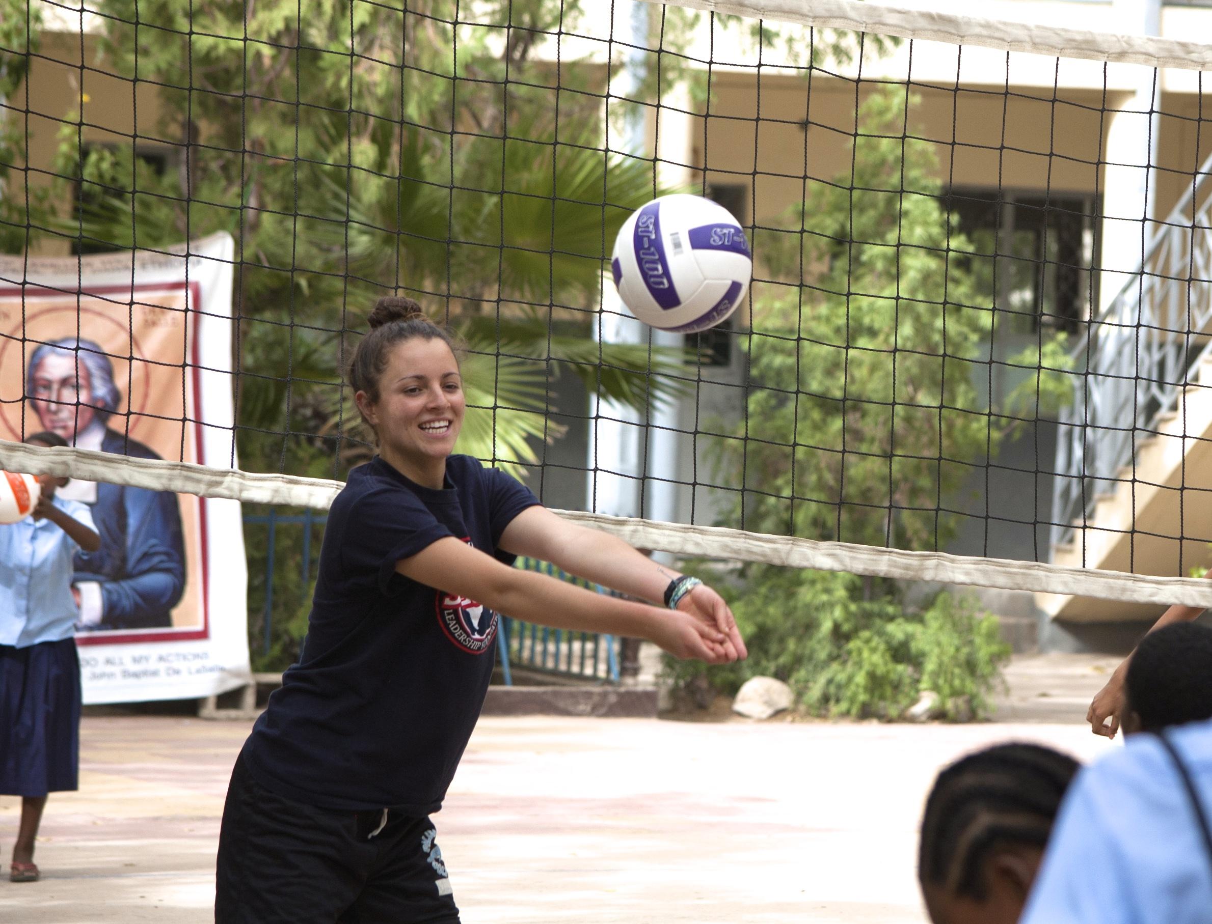Hannah's volleyball skills