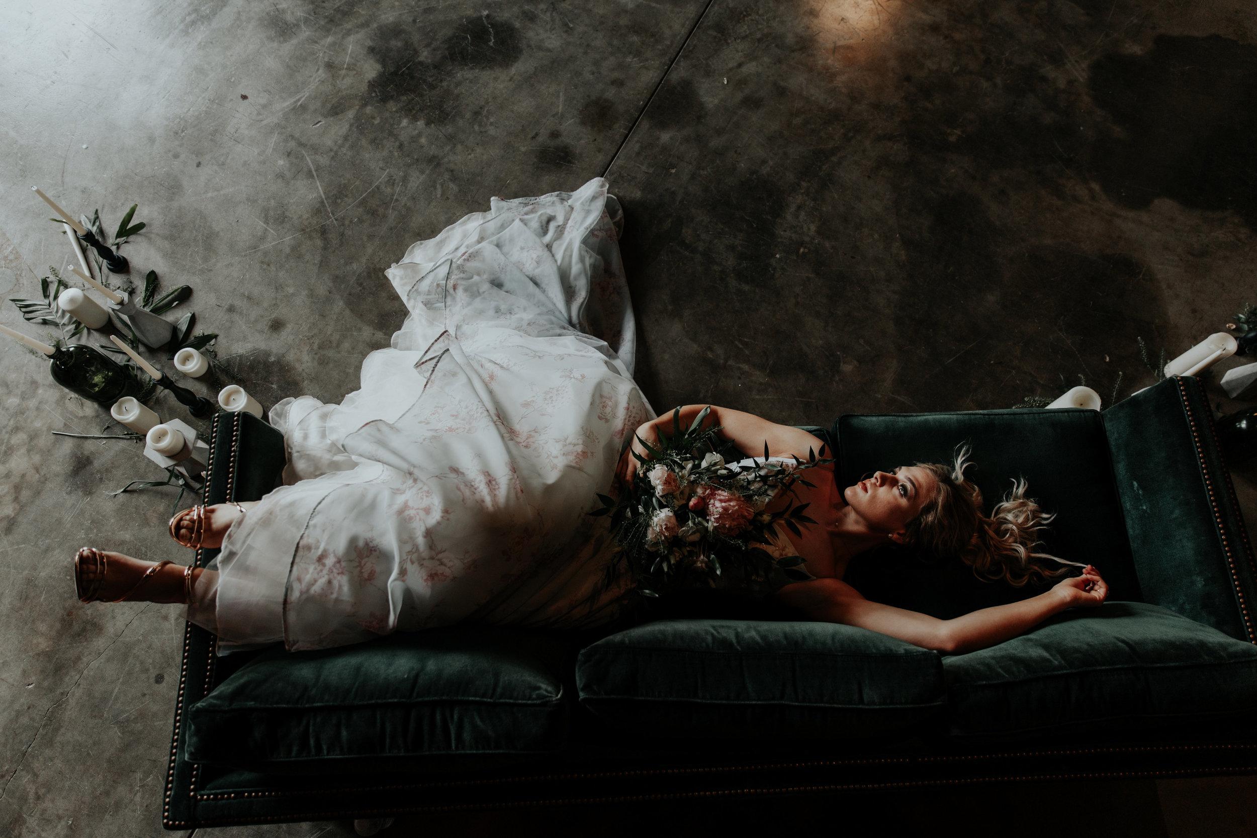 Moody, Romantic, Industrial, Modern Bridal Portraits