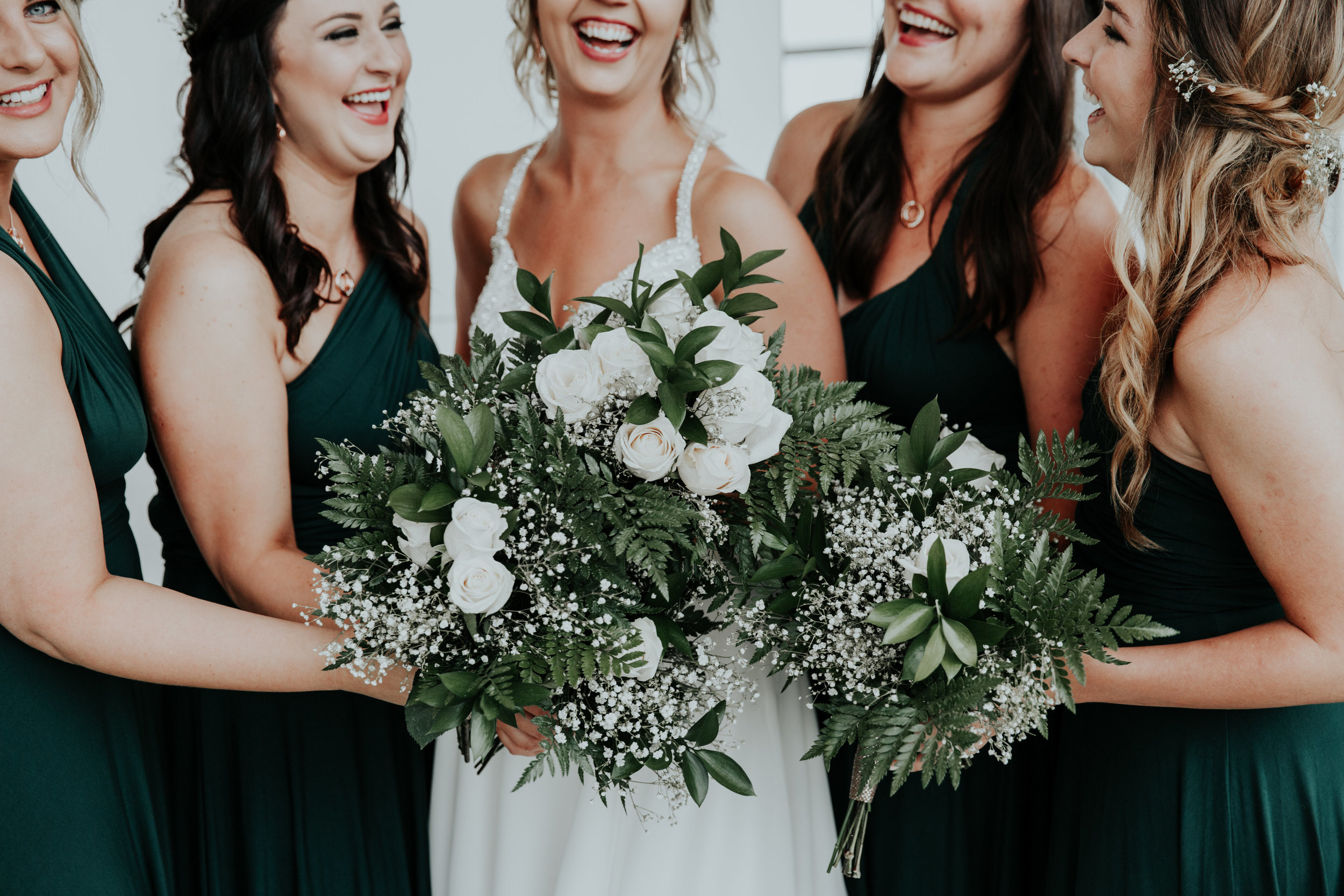 Emerald bridesmaid dresses | Be Images